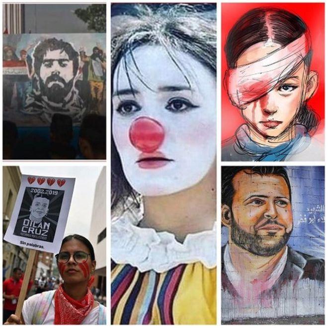 Photo of تعرّف على الوجوه الخمسة التي أصبحت رموزًا للاحتجاج حول العالم
