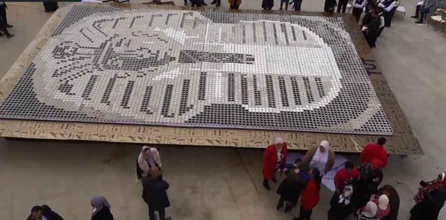 "Photo of مصر تدخل موسوعة ""غينيس"" بلوحة فنية لقناع توت عنخ آمون"