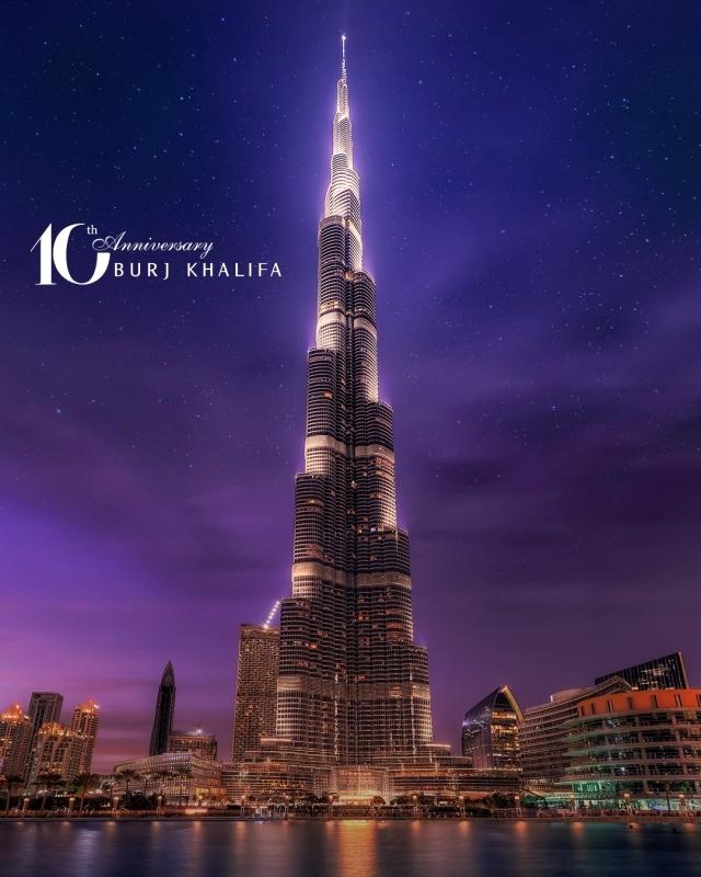 Photo of برج خليفة يحتفل بالذكرى العاشرة لتدشينه في عرض استثنائي